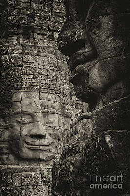Buddhism Photograph - Two Faces by Hitendra SINKAR