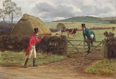 Two Gentlemen Met Print by George Goodwin