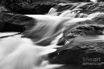 Two Islands Photograph - Two Island River Cascade by Larry Ricker