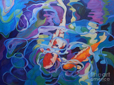 Two Koi Original by Sharon Nelson-Bianco