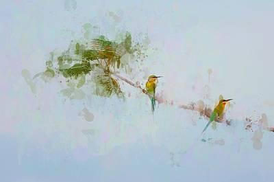 Two Little Birds Print by Kamarulzaman Russali