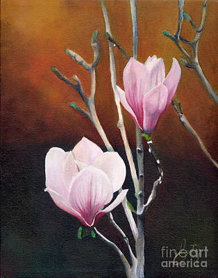 Two Magnolias Print by Daniela Easter