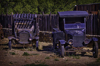 Broken Down Truck Photograph - Two Old Friends by Garry Gay