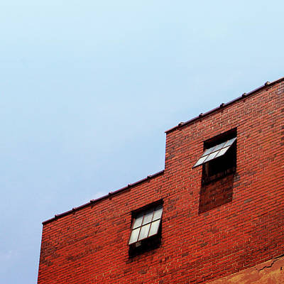 Brick Buildings Photograph - Two Open Windows- Nashville Photography By Linda Woods by Linda Woods