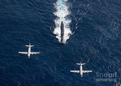 Two P-3 Orion Maritime Surveillance Print by Stocktrek Images