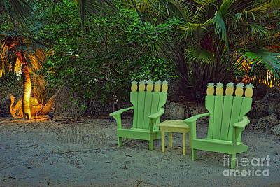 Florida Photograph - Two Pineapple Chairs by Olga Hamilton