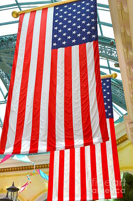 Photograph - Two Proud Flags by Mary Deal