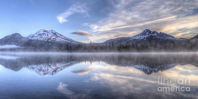 Oregon Photograph - Two Reflections On Sparks Lake by Twenty Two North Photography