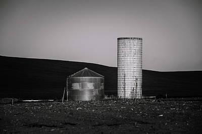 Two Silos, Kittitas County, Washington, 2011 Print by Steve G Bisig