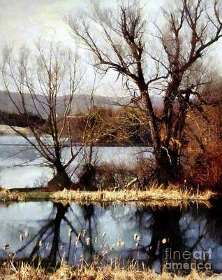 Two Souls Reflect Print by Janine Riley