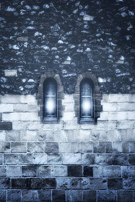 Stone House Photograph - Two Windows by Joana Kruse