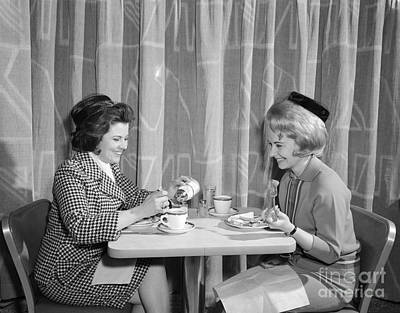Two Women Having Lunch, C.1960s Print by H. Armstrong Roberts/ClassicStock