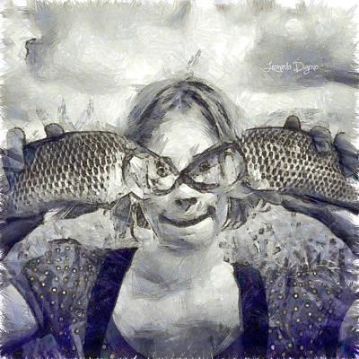 Two Fish Digital Art - Twofish - Da by Leonardo Digenio
