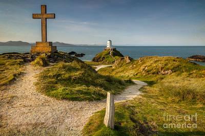 Towers Digital Art - Twr Mawr Lighthouse by Adrian Evans