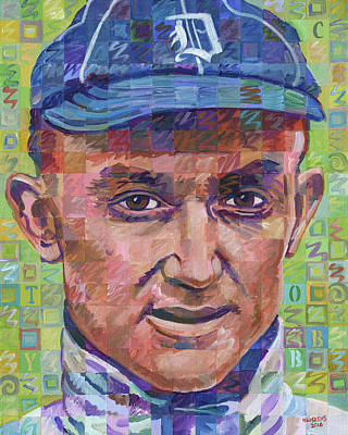 Ty Cobb Painting - Ty Cobb 2 by Randal Huiskens