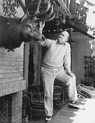 Cobb Photograph - Ty Cobb At Home by Underwood Archives