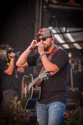 Tyler Farr Guitar 2 Print by Mike Burgquist