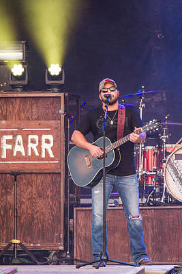 Tyler Farr Guitar Print by Mike Burgquist