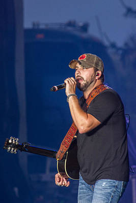 Tyler Farr In Concert Print by Mike Burgquist