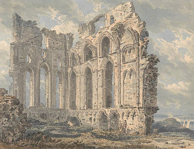 Northumberland Painting - Tynemouth Priory, Northumberland by Thomas Girtin