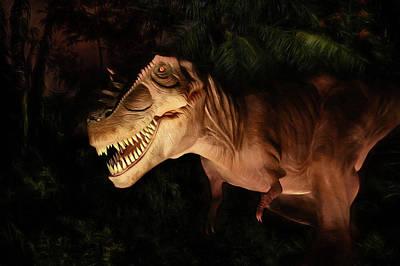 Dino Digital Art - Tyrannosaurus Rex by Lori Deiter