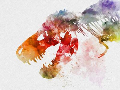 Dinosaur Mixed Media - Tyrannosaurus Rex by Rebecca Jenkins