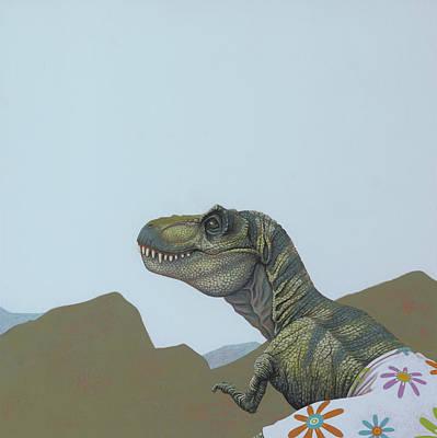 Tyranosaurus Rex Print by Jasper Oostland