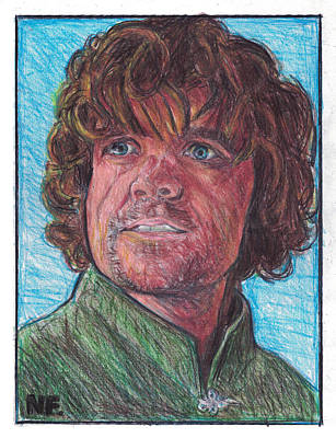 Lannister Drawing - Tyrion Lannister As Portrayed By Actor Peter Dinklage   by Neil Feigeles