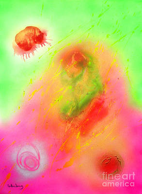 Kabbalah Painting - Tzfasser 27 by Dov Lederberg