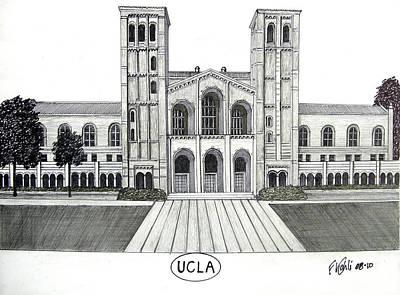 Pac-10 Universities Drawings Mixed Media - U C L A by Frederic Kohli