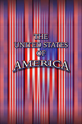American Flags Drawing - U S A 1 by Mike McGlothlen