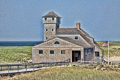Old Home Place Photograph - U S Lifesaving Station by Stephen Stookey