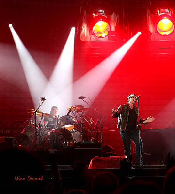 Bono Mixed Media - U2 Amsterdam Concert by Nick Diemel