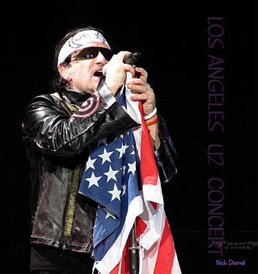 U2 Bono L.a. Concert Original by Nick Diemel