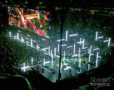 U2 Digital Art - U2 Innocence And Experience Tour 2015 Opening At San Jose. 8 by Tanya Filichkin