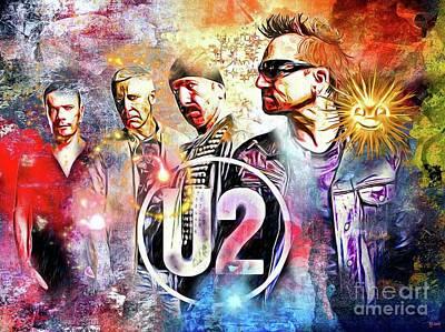 Bono Painting - U2 Painted by Daniel Janda
