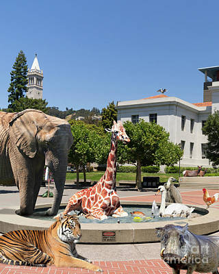 Uc Berkeley Welcomes You To The Zoo Please Do Not Feed The Animals Dsc4086 Vertical Print by Wingsdomain Art and Photography