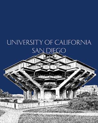 University Of California Digital Art - Uc San Diego Navy Blue by DB Artist