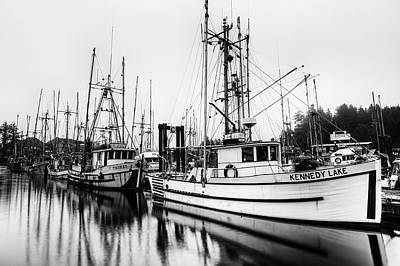 Trawler Photograph - Ucluelte Harbour - Vancouver Island Bc by Mark Kiver