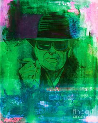 Ts Painting - Udo Lindenberg  Pop Art Abstract 2 by Felix Von Altersheim