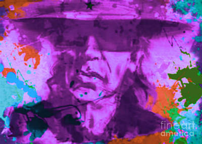 Berlin Germany Painting - Udo Lindenberg Pop Art Pur Serie No.2 by Felix Von Altersheim