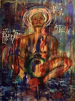Udu Woman Print by Anoa Kanu