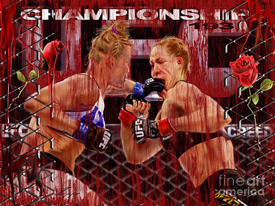Ufc Painting - Ufc The New Soylent Green by Reggie Duffie