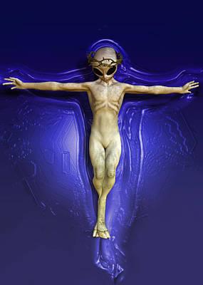 Holy Ufo Print by Joaquin Abella