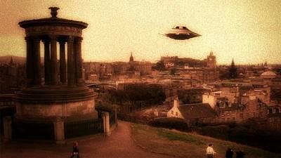 Xfiles Digital Art - Ufo Edinburgh by Raphael Terra