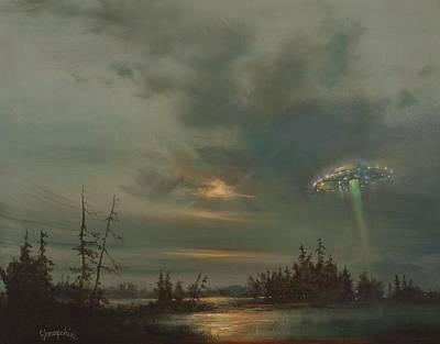 Ufo Northern Exposure Print by Tom Shropshire