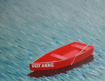 Perkins Cove Painting - Ugly Anne by Dillard Adams