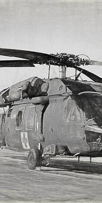 Digital Art - Uh-60 Black Hawk Triptych 2 by Tommy Anderson