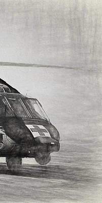 Digital Art - Uh-60 Black Hawk Triptych 3 by Tommy Anderson