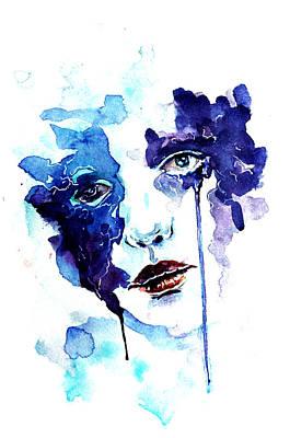 Tear Drawing - Ultraviolence by Alexandra-Emily Kokova